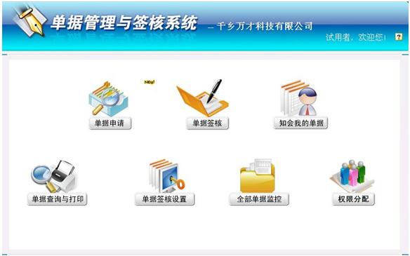 CISS跨网通OA办公系统单据签核系统图